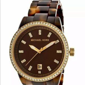 ⌚️MICHAEL KORS Ritz Watch pavé gold tortoiseshell